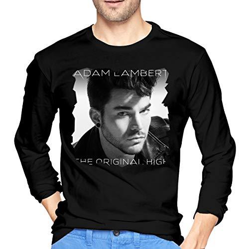 MarshallD Men's Adam Lambert The Original High Cotton Long Sleeve T-Shirt Black XL -
