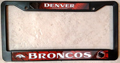 Denver Broncos LBL BLACK PLASTIC License Plate Frame Tag Cover (Broncos Office Accessories)