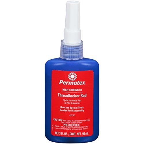Permatex 27183-6PK High Strength Threadlocker Red, 90 ml (Pack of 6) by Permatex