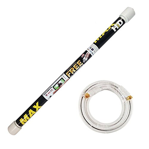 Magic Stick TV MAX HD - Antenna TV Digital HD for Indoor/Outdoor | VHF UHF Digital Television | Signals up to 80 Miles Range | Support 720p, 1080i, 1080p, 20 ft Coaxial Cable