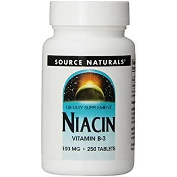 Source Naturals Niacin Vitamin B-3 100mg, 250 Tablets