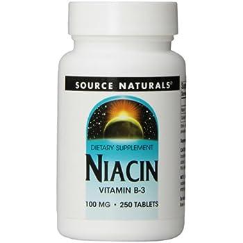 Source Naturals Niacin Vitamin B-3 100mg Metabolic Support - 250 Tablets