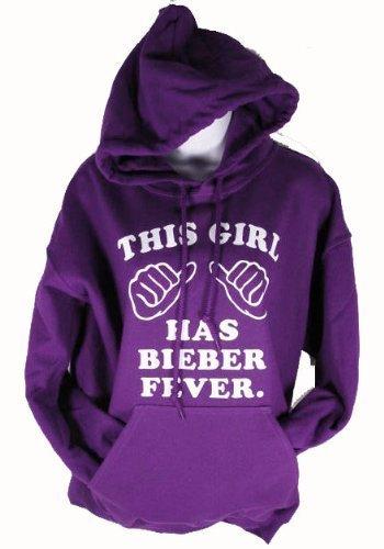 This Girl Has Bieber Fever Purple Hoodie Justin Sweatshir...