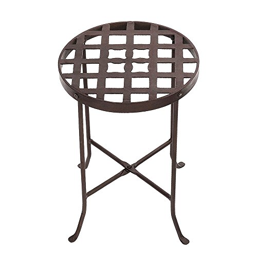 Achla Designs Flowers Plant Stand, 16 1/2-in H (Iron Forged Table Legs)