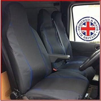 Transit Custom 2013 New Shape Van Seat Covers Single Drivers And Double Passengers Black