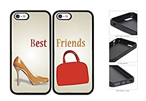 Nude Heels Red Purse Best Friends Set Rubber Silicone TPU Cell Phone Case Apple iPhone 5 5s by lolosakes