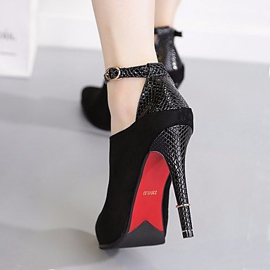 eu38 5 PU Casual uk5 ggx black Women's Heel 5 cn38 LvYuan Mary Boots Jane Chunky us7 Winter fSwxOT