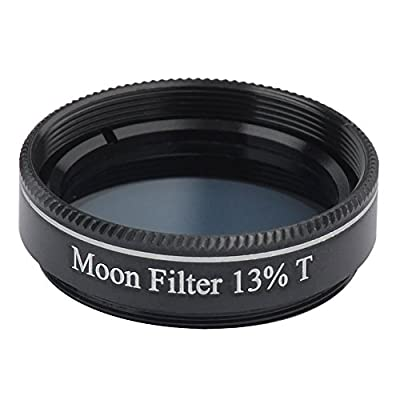 "Gosky 1.25"" 13% Transmission Moon Filter for Telescopes - Greater Detail on the Lunar Surface. from Gosky"