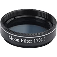 Gosky 1.25 13% Transmission Moon Filter for Telescopes - Greater Detail on the Lunar Surface.