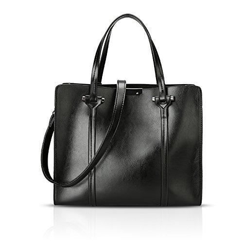nuova borsa retro della a grande retro capacità 2018 borsa della tracolla della borsa di grande signora della Tisdaini della Borsa Nero spalla della aU6q6Twx