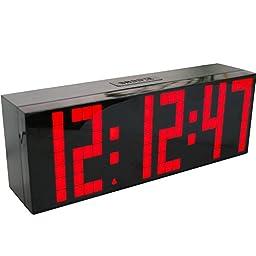 Chihai 9.6-Inch Big Digital Led Display Board Countdown Function Snooze Alarm Clock(red)
