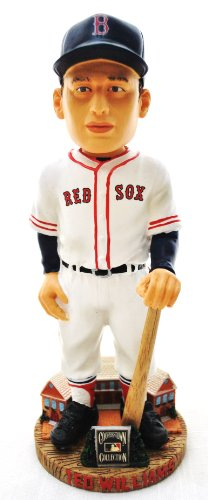 (RED SOX RARE TED WILLIAMS MLB HALL OF FAME COOPERSTOWN COLLECTION HOME JERSEY BOBBLE HEAD BOBBLEHEAD)