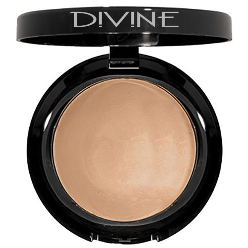 Divine Skin & Cosmetics - Ultra Smooth, Velvety Finish, Baked Hydrating Powder Foundation - Deep Dark -