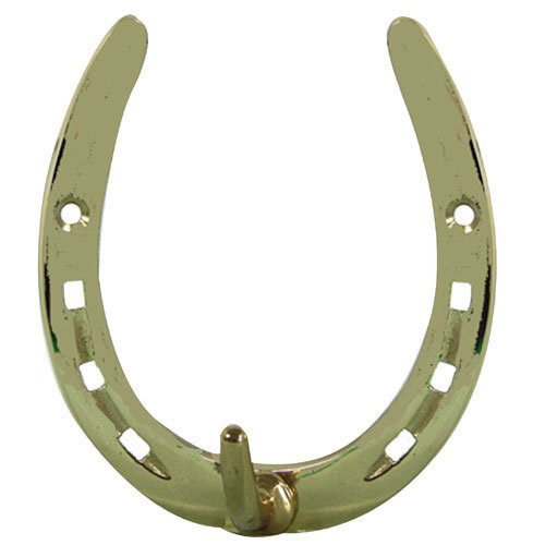 Intrepid International Brass Horseshoe Hook, Large (Jewelry Large Horseshoe)