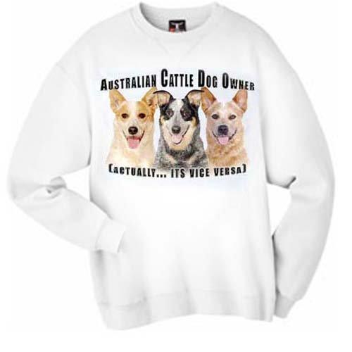 Australian Cattle Dog dog Vice Versa Adult Sweatshirt - MEDIUM ()