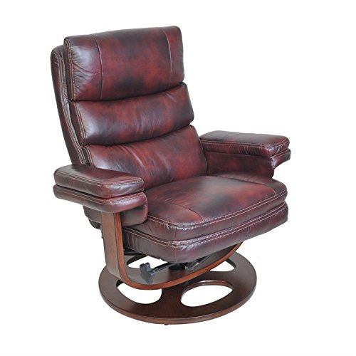 BarcaLounger Pedestal Recliners Bella II Ped Recliner, Plymouth (Leather Mahogany Cabinet)