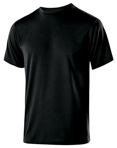 Ultra Club Holloway Youth Polyester Short Sleeve Gauge Shirt (Black, Small) ()