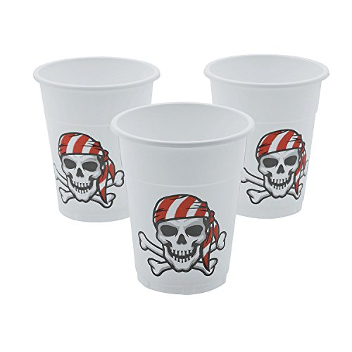 Fun Express Disposable Plastic Pirate Cups 50 Pc - 50 Pieces -