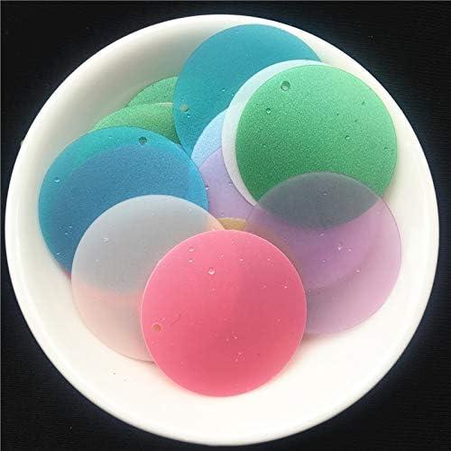 Ropa de Mujer Shoppy Star 72 Piezas//Lote 30 mm Color Mate Grande Lentejuelas Planas Redondas de PVC Sueltas Lentejuelas para Coser Boda Manualidades Rosa sangu/íneo