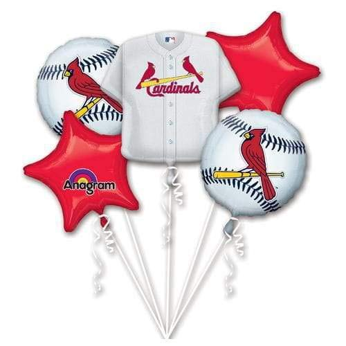 Anagram 32037 St Louis Cardinals Balloon Bouquet Multicolored