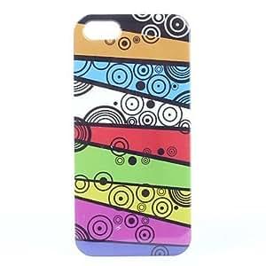 TY-Puntos de colores caso duro del patrón de diseño complejo de 5/5s iphone