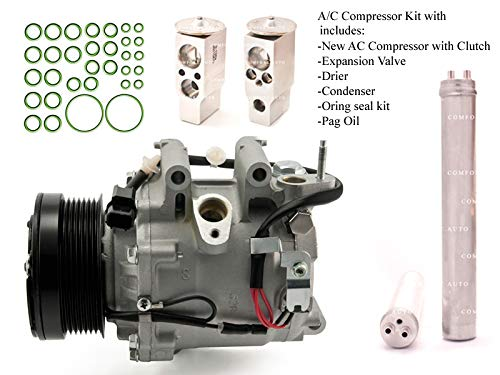 - 2006 2007 2008 2009 2010 2011 Honda Civic 1.8L 4 Door ONLY SEDAN New AC Compressor KIT 1 Year Warranty