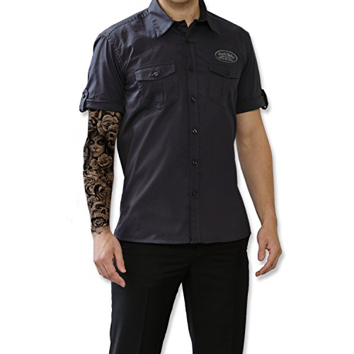 ROAD RODEO Worker Shirt, Hemd, Rock'n'Roll, Papagei, V8, US Car, Speed and Rumble