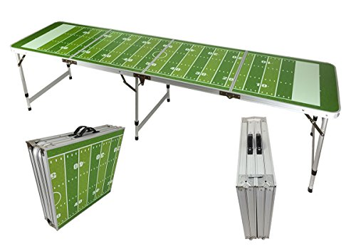 NEW 8' BEER PONG TABLE ALUMINUM PORTABLE ADJUSTABLE FOLDING INDOOR OUTDOOR TAILGATE PARTY GAME #2 - Folding Tailgate Party Table