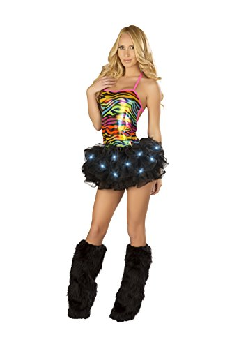 [NOT ACTIVE J. Valentine Women's Black Light-Up Tutu, Black, One Size] (Light Up Black Tutu)