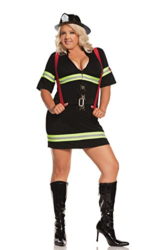 (Woman's Smoking Hot Firefighter Halloween Role Play Costume)