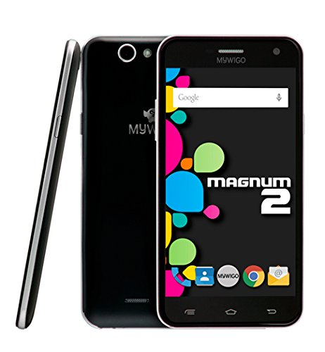 MYWIGO Magnum 2 – Smartphone Libre de 5″ (Quad Core, 1 GB de RAM, 8 GB de Memoria Interna, cámara Trasera de 13 MP, Android) Color Negro