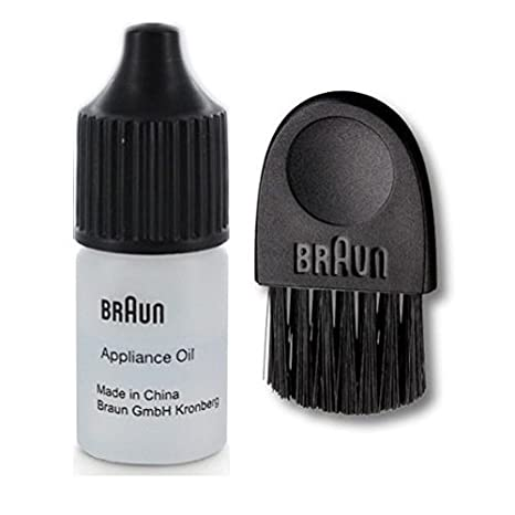 Braun Electric Shaver Lubricating Appliance Oil approx. 7ml with Braun All Series compatible basic brush Approx. 6cm (1pc) Non-Retail Packaging (10)