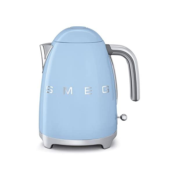 Smeg KLF01PBUS 50's Retro Style Aesthetic Electric Kettle, Pastel Blue 1