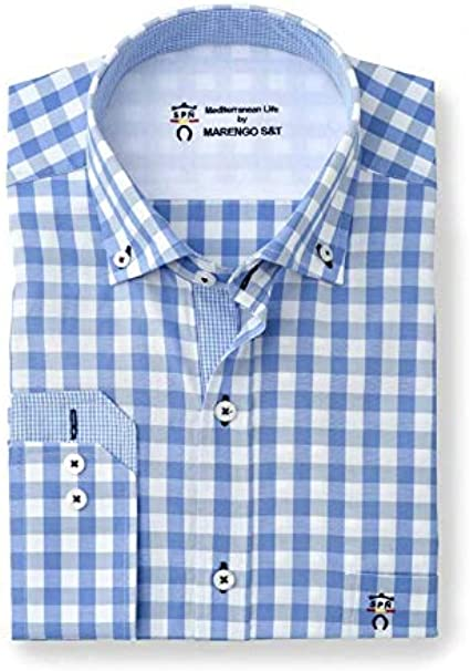 Camisa Manga Larga con Estampado de Cuadros Vichy Grandes en ...