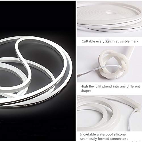 [해외구매대행 $66 00] Vasten LED Neon Rope Light Flexible Hoses IP67 Decoration  Light (White)