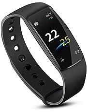 AISOUL Activity Tracker, IP67 Wasserdichte Fitness Tracker Uhr mit Pulsmesser, Schrittzähler Uhr Stoppuhr verbunden GPS, Bluetooth Schrittzähler Schritt Kalorienzähler Frauen Männer
