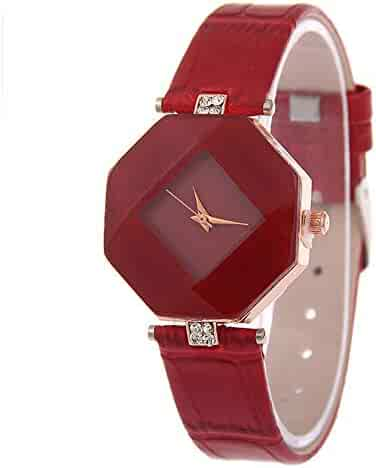 Fashion Rhinestone Wristwatch Ladies Women Watches Leather Band Luxury Quartz Watches Girls Ladies Wristwatch