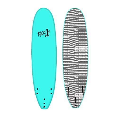 Rock It 7' SHORTBUS Soft Top Surfboard (Teal)