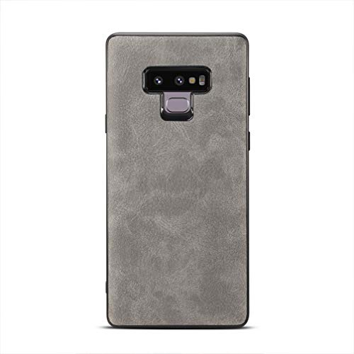 Price comparison product image ANERNAI Galaxy Note 9 Case, Ultra Thin Shockproof Premium Leather PU Anti-Scratch Cover Samsung Galaxy Note 9 (Light Gray)