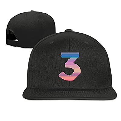 Unisex Chance The Rapper Number 3 Peak Ajustable Flat Cap Black