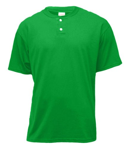 Soffe Men's 2-Button Placket Henley , Kelly , (Soffe Henley)