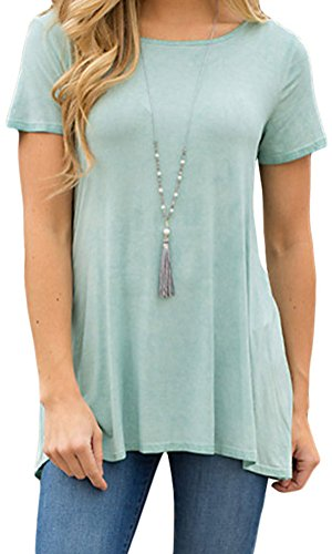 YeeATZ Sexy Pale Green Twist Cutout Back Casual Womens T-shirt
