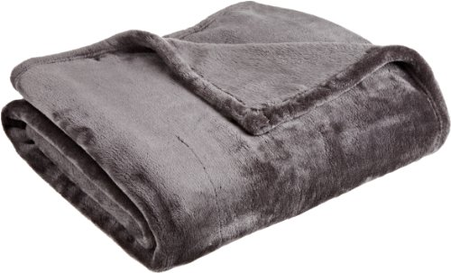 Northpoint Cashmere Plush Velvet Throw, Charcoal Soft Plush Blanket