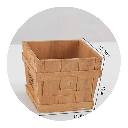 Wooden Succulent Plant Flower Herb Bed Pot Storage Box Garden Planter Storage Basket Exquisite Plant Pot,1