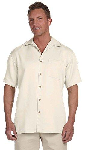 Harriton Mens Bahama Cord Camp Shirt M570 -Creme XL