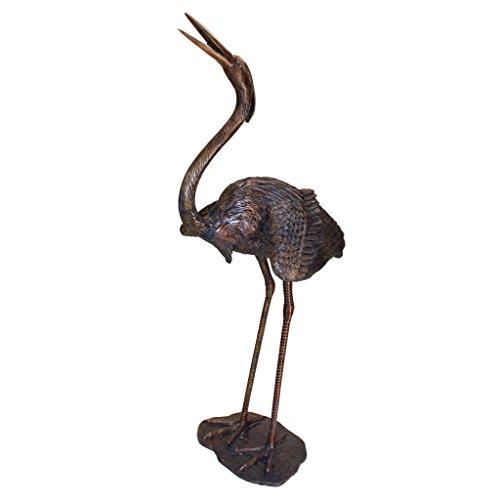 Design Toscano Grande Heron Head Low Cast Bronze Garden Statue