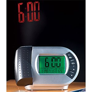 Projection Clock LCD Display Wall Ceiling Alarm