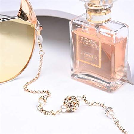 DFHNJIY Creativo Simple Cadena de Gafas de Imitación Perla ...