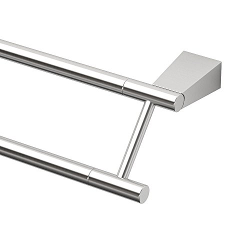 "Gatco 4734 Bleu 24"" Double Towel Bar, Satin Nickel"