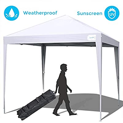 Quictent 10'x10'Pop up Canopy Tent Commercial Instant Shelter Waterproof with Wheeled Carry Bag 4 Colors